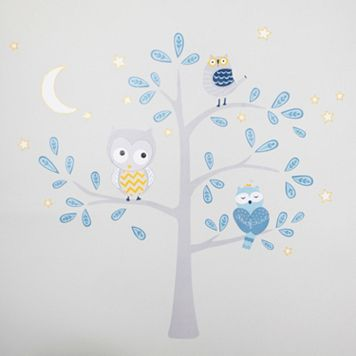 Happi by Dena Night Owl Jumbo Wall Appliques by Lambs & Ivy