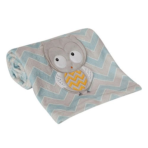 Happi by Dena Night Owl Blanket by Lambs & Ivy