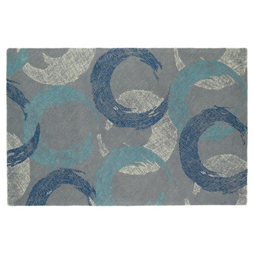 Kaleen Montage Crescent Geometric Wool Rug