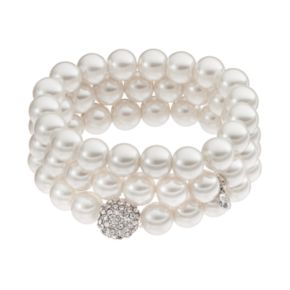 Simulated Pearl Stretch Bracelet