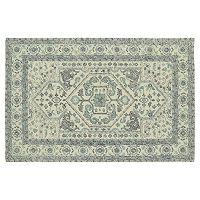 Kaleen Montage Heriz Framed Floral Wool Rug