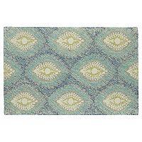 Kaleen Montage Floral Ikat Diamond Wool Rug
