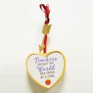 """New View """"Teachers Change The World"""" Art A Gram Wall Decor"""