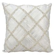 Kathy Ireland Beaded Geometric Throw Pillow