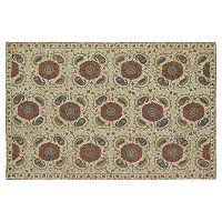 Kaleen Montage Floral Tile Wool Rug