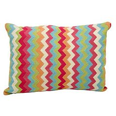 Kathy Ireland Flamestitch Chevron Throw Pillow