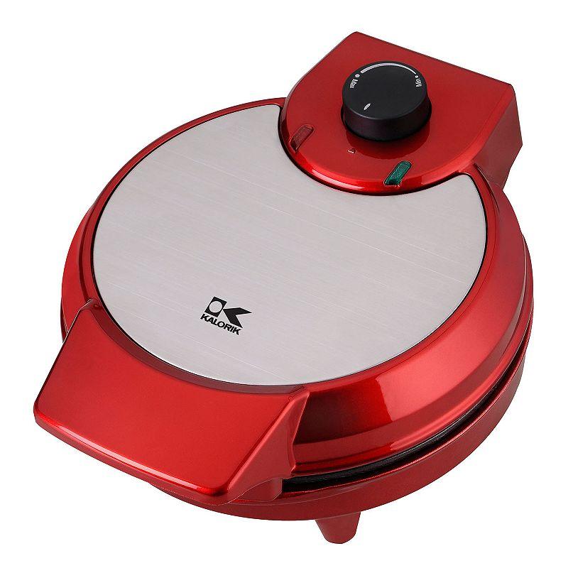 Kalorik Heart-Shape Waffle Maker, Red