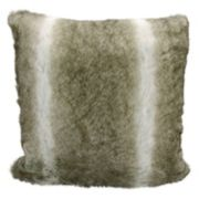 Kathy Ireland Faux Wolf Fur Throw Pillow