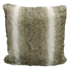 Kathy Ireland Faux Wolf Fur Throw Pillow