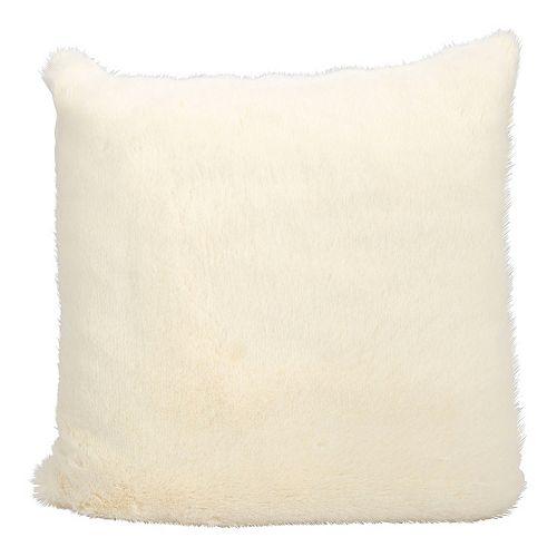 Kathy Ireland Faux Rabbit Fur Throw Pillow