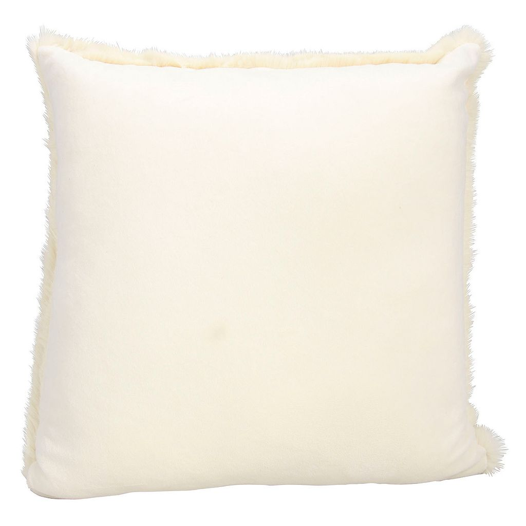 Kathy Ireland Faux Rabbit Fur Throw Pillow