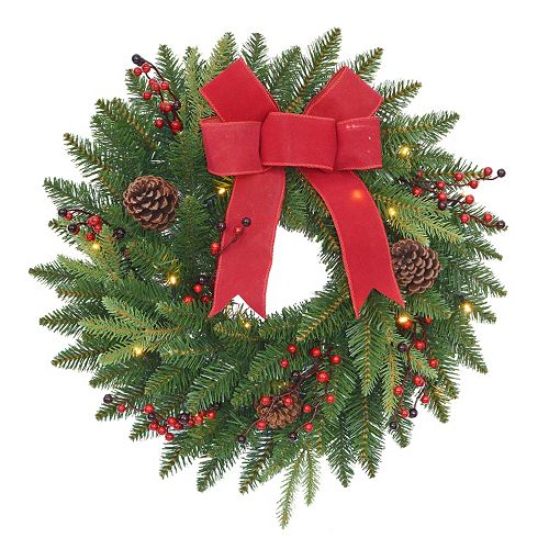 St. Nicholas Square® Indoor / Outdoor Lighted Wreath