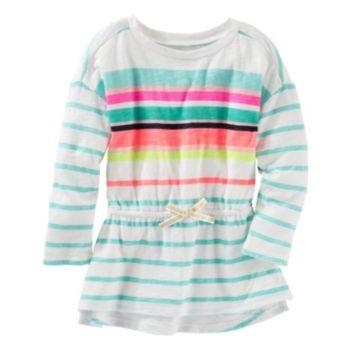 Girls 4-8 OshKosh B'gosh® Long Sleeve Striped Cinched-Waist Tunic
