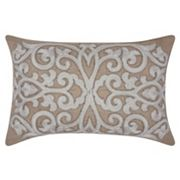 Mina Victory Luminescence Beaded Scroll Throw Pillow