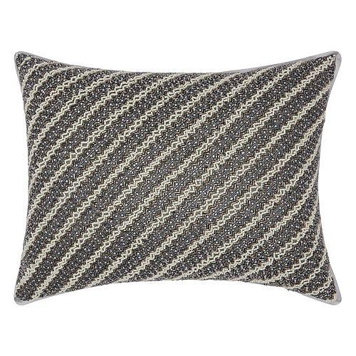 Mina Victory Luminescence Diagonal Chevron Throw Pillow