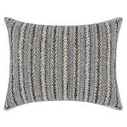 Mina Victory Luminescence Arrowhead Stripes Throw Pillow