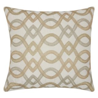 Mina Victory Luminescence Geometric Lattice Throw Pillow