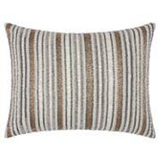 Mina Victory Luminescence Beaded Stripes Throw Pillow