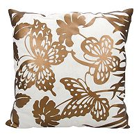 Mina Victory Luminescence Butterfly Garden Throw Pillow