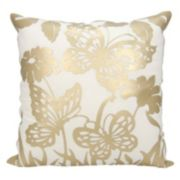 Mina Victory Luminescence Butterfly Garden Throw Pillow