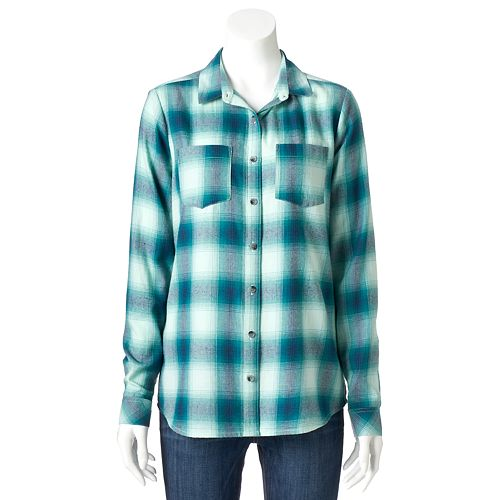 62a9f273 Women's SONOMA Goods for Life™ Plaid Flannel Shirt