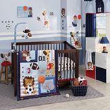 Lambs Ivy Future All Star 4 Pc Crib Bedding Set
