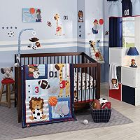 Lambs & Ivy Future All-Star 4 pc Crib Bedding Set