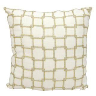 Mina Victory Luminescence Interlock Squares Throw Pillow
