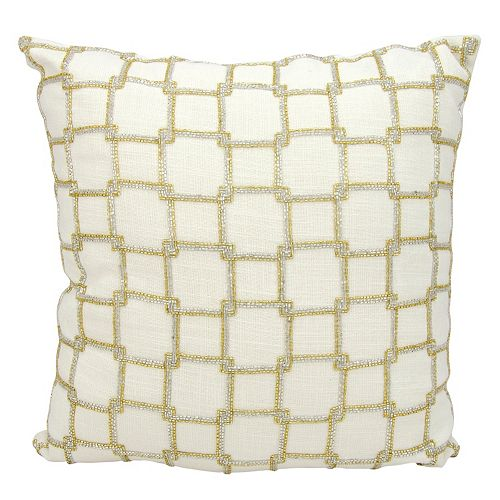 Mina Victory Luminescence Interlock Squares Throw Pillow