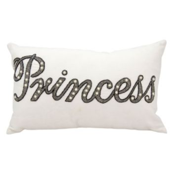 Mina Victory Luminescence Beaded Princess Throw Pillow
