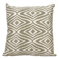 Mina Victory Luminescence Beaded Waves Throw Pillow