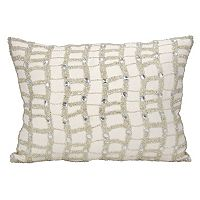 Michael Amini Beaded Ladders Throw Pillow