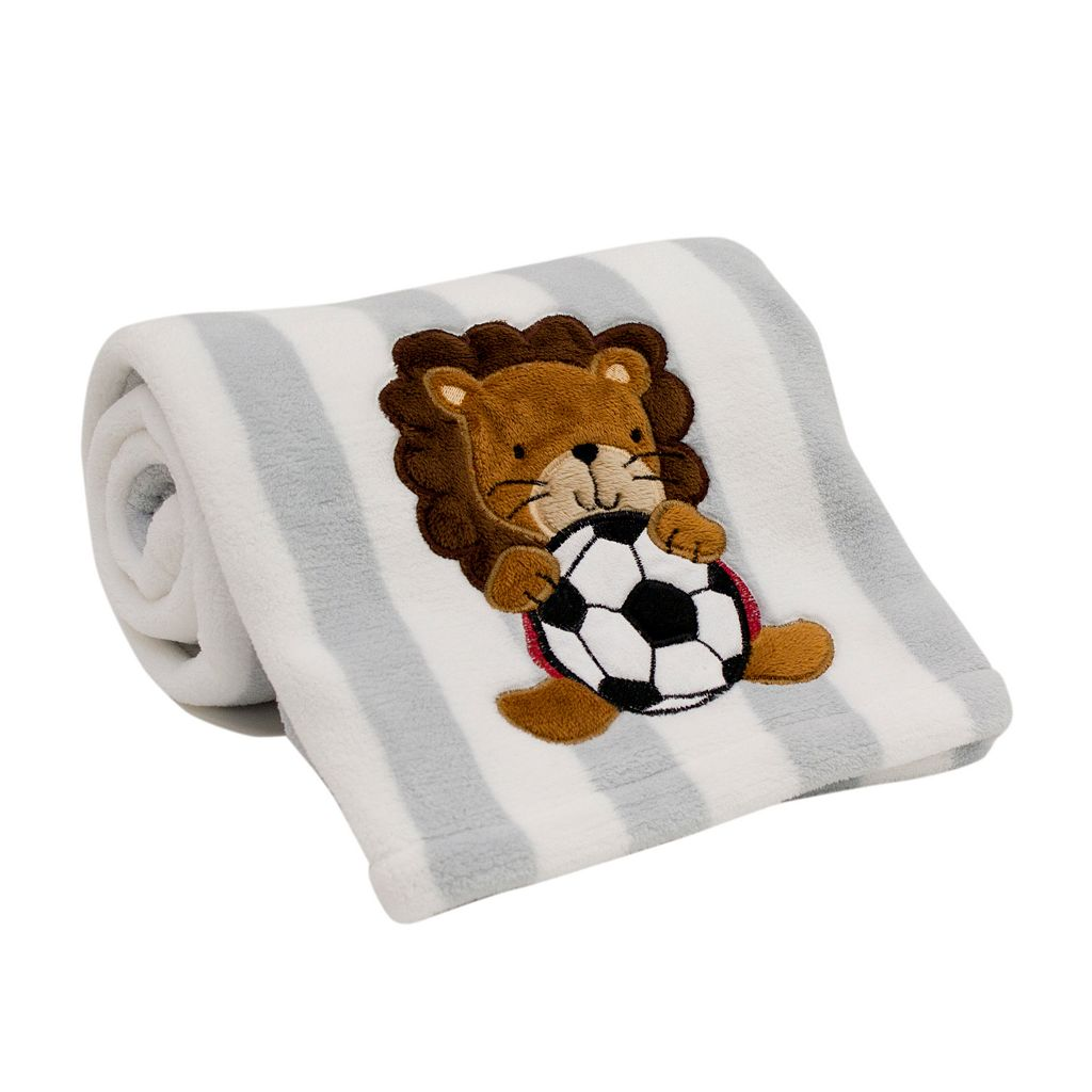 Lambs & Ivy Future All-Star Soccer Lion Blanket