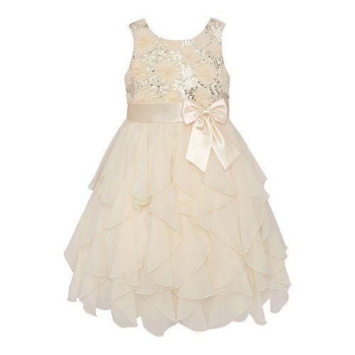 Girls 7-16 & Plus Size American Princess Floral Sequin ...