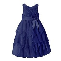 Girls 7-16 & Plus Size American Princess Floral Soutache Ruffle Dress