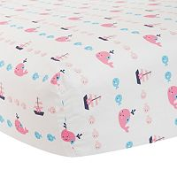 Lambs & Ivy Splish Splash Fitted Crib Sheet