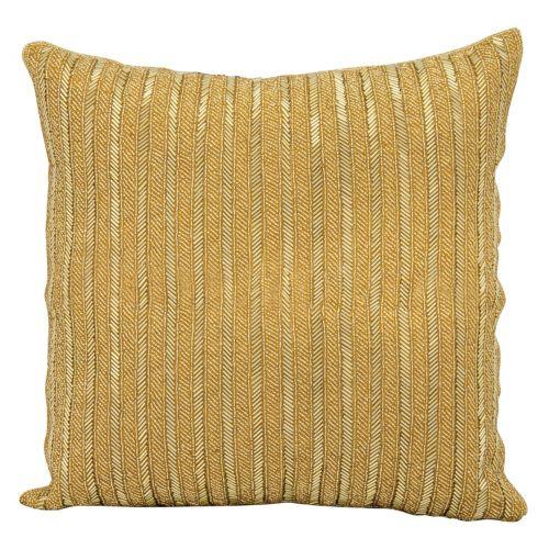 Michael Amini Beaded Stripes Throw Pillow