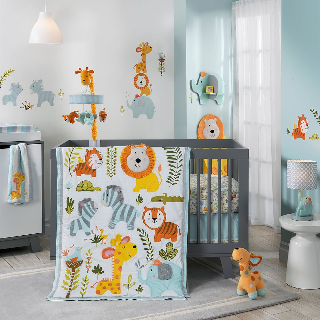 Happi Jungle by Dena 4-pc. Crib Bedding Set by Lambs & Ivy
