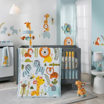 Happi Jungle by Dena 4-pc. Crib Bedding Set by Lambs & Ivy