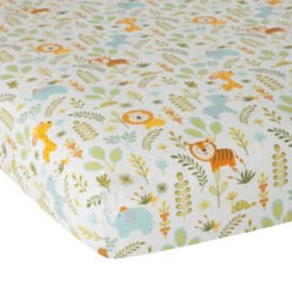 Happi Jungle by Dena Fitted Crib Sheet by Lambs & Ivy