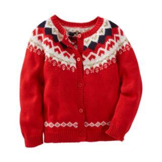 Girls 4-8 OshKosh B'gosh® Fairisle Wool Cardigan