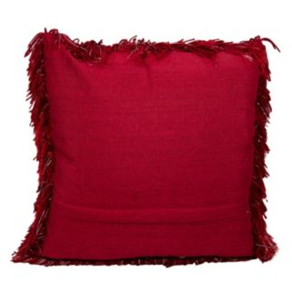 Mina Victory Yarn Shimmer Shag Throw Pillow