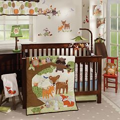 Lambs & Ivy Woodland Tales 4 pc Crib Bedding Set