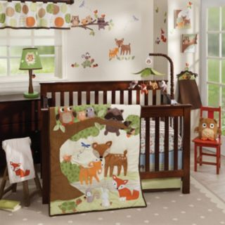 Lambs & Ivy Woodland Tales 4-Pc. Crib Bedding Set