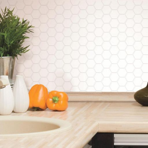 RoomMates Pearl Hexagon StickTILES Wall Decal 4-piece Set