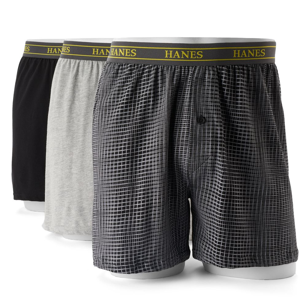 fa0c562630d9 Men's Hanes Ultimate 3-pack Tagless Woven Boxers