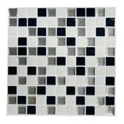 RoomMates Black & White Mosaic StickTILES Wall Decal 4 pc Set
