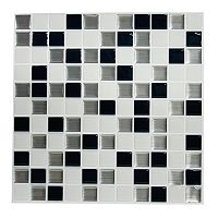 RoomMates Black & White Mosaic StickTILES Wall Decal 4-piece Set