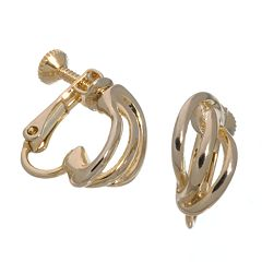 Napier® Gold Tone Triple Wire Clip-On Earrings
