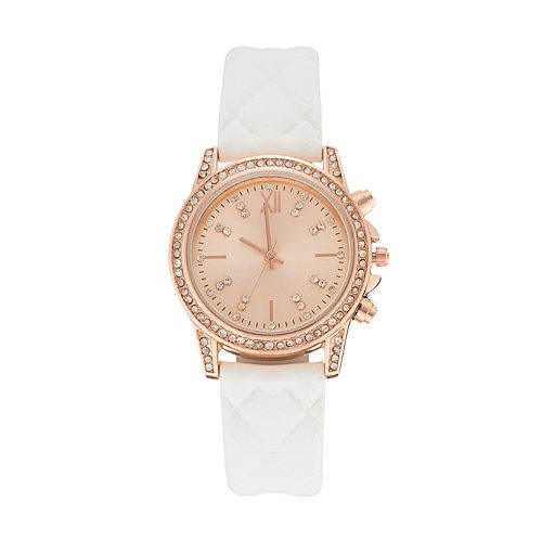 Women's Crystal Quilted Watch